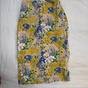 Brand new, never worn. Silk J Crew floral skirt.